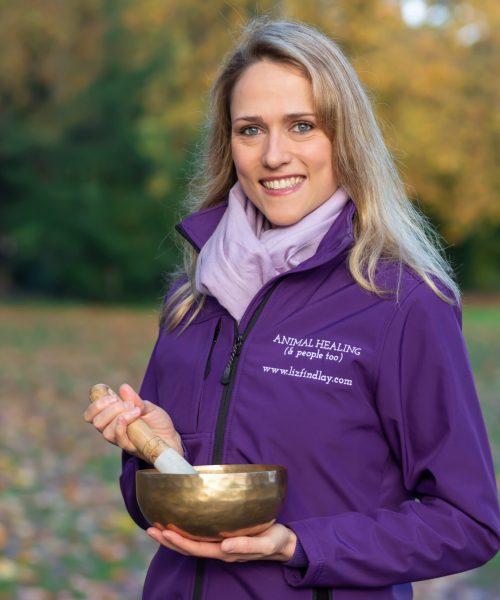 Liz Findlay with Singing Bowl - Nov 2018 (A4 print)